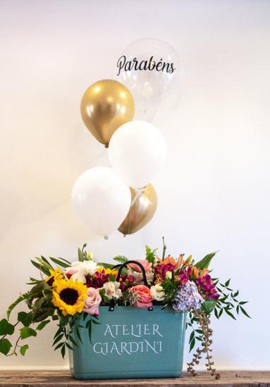 Imagem de Sacola Flores e Balões